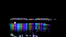 ملف:Sarafiya Bridge lights at night June 2017.webm