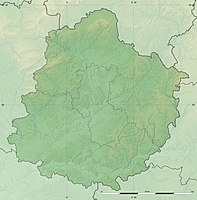 Sarthe department relief location map.jpg