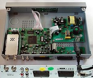 Sat-Receiver_Palcom_DSL-350, Gehäuse geöffnet