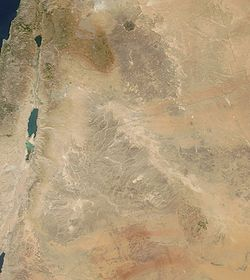 Satellite image of Jordan in November 2003