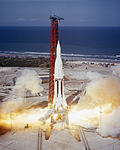 Saturn-Apollo 4 launches from KSC (MSFC-6413722).jpg