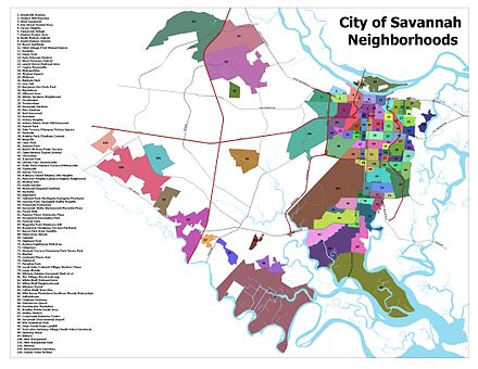 Map of Savannah neighborhoods Savannah Neighborhoods.jpg