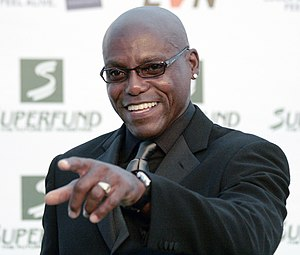 Carl Lewis - Lewis at the Save The World Awards in July 2009