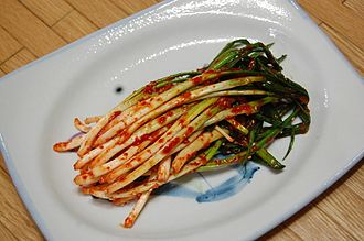 Tree onion - Image: Scallion kimchi