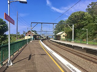Scarborough railway station, New South Wales