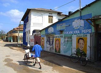 Chama Cha Mapinduzi - A mural of the party's candidates in the southern Tanzanian town of Lindi.