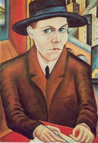 Portrait of Oskar Maria Graf by Georg Schrimpf (1927)