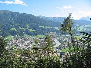 Schwaz - Image: Schwaz (Tyrol) from NE a