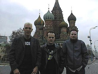 Scooter (band) - Scooter in Moscow, circa 2000. From left to right: H.P. Baxxter, Rick J. Jordan, Axel Coon