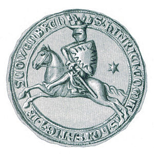 Henry I, Count of Holstein-Rendsburg - Seal of Henry I from about 1295 to 1302