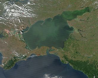 Satellitenaufnahme des Asowschen Meeres