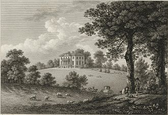 Mount Clare, Roehampton - Mount Clare in an engraving from 1779 by William Watts.