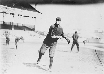 Starting pitcher Bill James was 2-0 in the 1914 World Series, and the Braves recorded the first sweep in World Series history Seattle Bill James.jpg