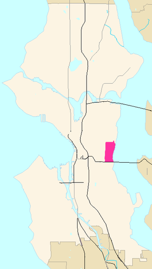 Leschi, Seattle - Map Location of Leschi