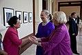 Secretary Clinton Greets Representatives at the LMI Women's Event (7563755454).jpg
