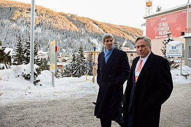 Secretary Kerry Walks With Senior Adviser Thorne in Downtown Davos Between Meetings at the World Economic Forum (24515432286).jpg