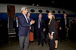 Secretary Kerry Waves to a U.S. Embassy Intern After Landing in Ottawa, Canada (27971785095).jpg