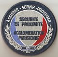 Securite de Proximite France police patch Paris.jpg