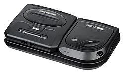 North American model 2 Sega CD & a model 2 Sega Genesis