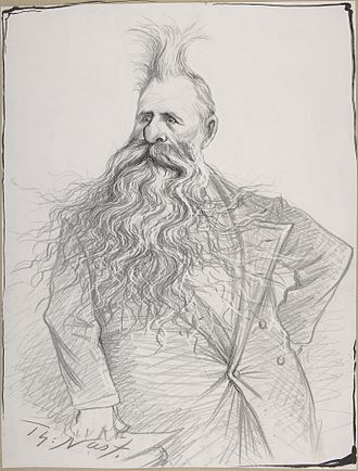 Joseph N. Dolph - Caricature of Dolph by Thomas Nast, circa 1894