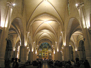 Valencia Cathedral - Nave of the cathedral.
