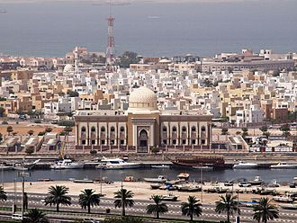 Emirate of Sharjah - Older residential area of Sharjah, displaying the local architecture