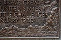 Shuttle Challenger - front detail - Arlington National Cemetery - 2011.JPG