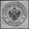 Siegelmarke K.K. Bezirkshauptmannschaft - Bregenz W0261344.jpg