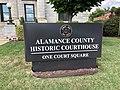 Sign, Alamance County Courthouse, Graham, NC (48950828767).jpg