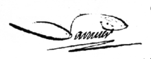 Signature de Antoine Laurent de Lavoisier