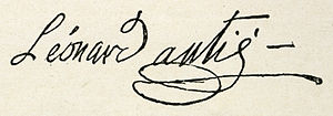 Léonard Autié - Signature