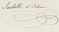 Signature of Princess Marie Isabelle of Orléans, Countess of Paris.jpeg