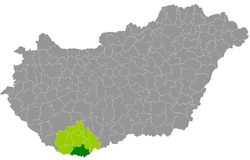 Siklós District within Hungary and Baranya County.