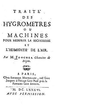 Simon Foucher - Traité des hygrometres (1686)