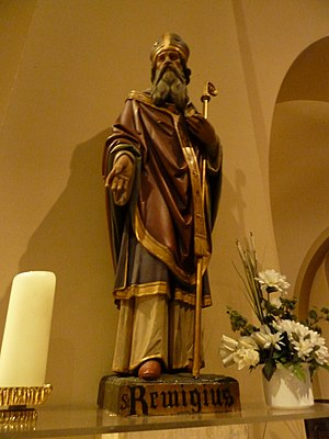 Saint Remigius - Statue of Saint Remigius at the Saint Remigius Church, Simpelveld, Netherlands
