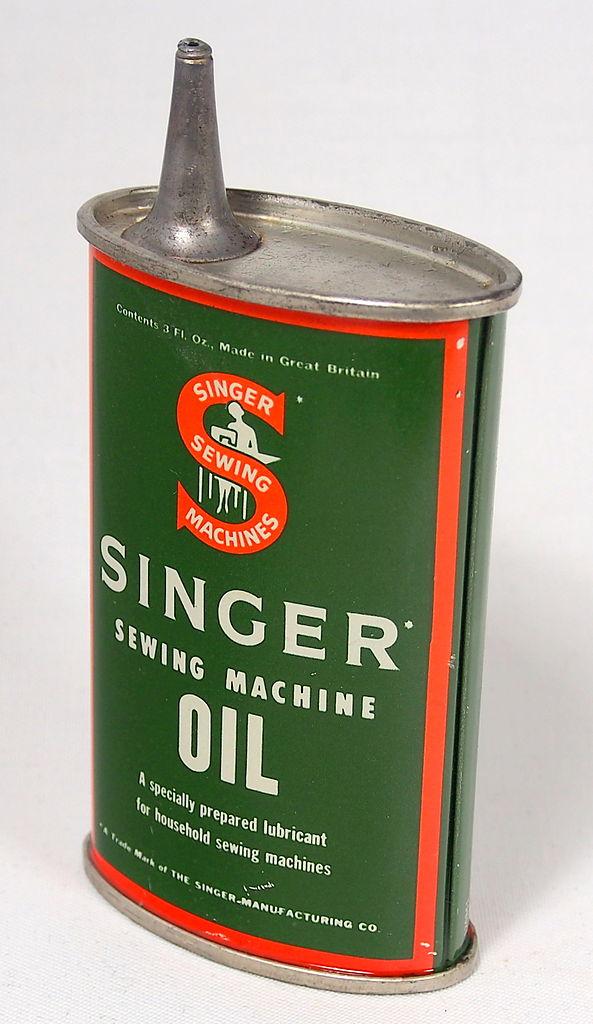 1 Emailoils Contact Usco Ltd Mail: File:Singer Sewing Machine Oil Tin, 3 Fl Oz, Pic 1.JPG