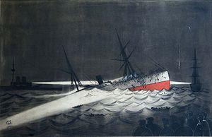 SS Utopia - Image: Sinking of SS Utopia 1891