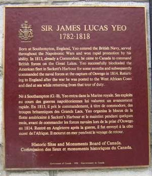 James Lucas Yeo - Sir James Lucas Yeo plaque at the Royal Military College of Canada
