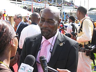 Viv Richards - Richards being interviewed after a cricket match in 2006