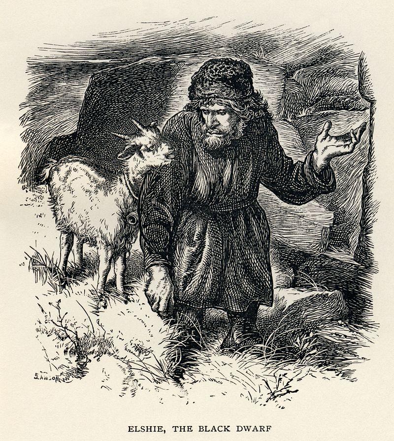 Sir Walter Scott - Elshie, The Black Dwarf.jpg