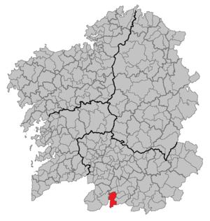 Calvos de Randín - Image: Situacion Calvos de Randín