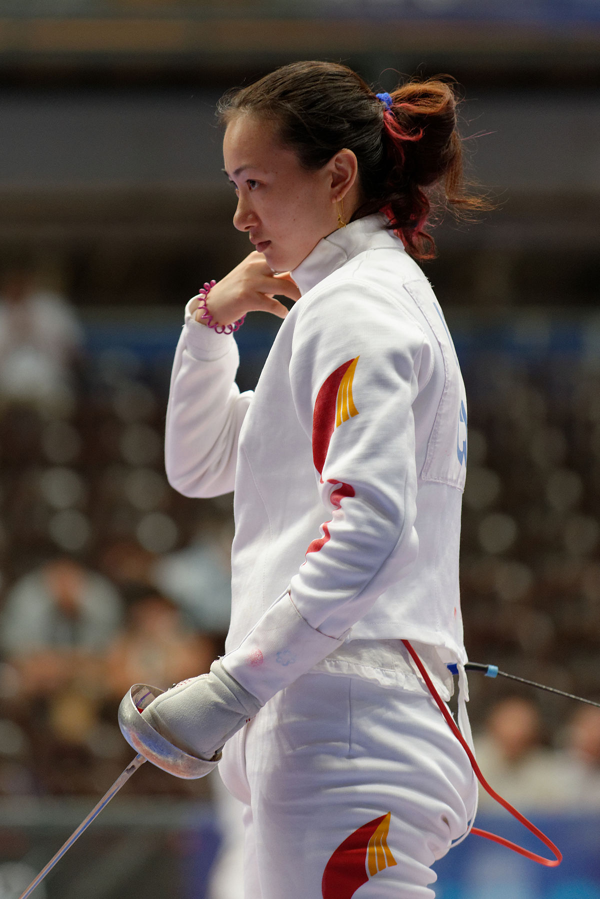 pics Maria Mazina epee fencer, Olympic champion