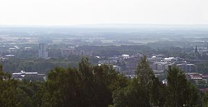 Billingen - View of Skövde from Billingen.