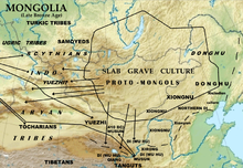 Relief map of Mongolia and surrounds