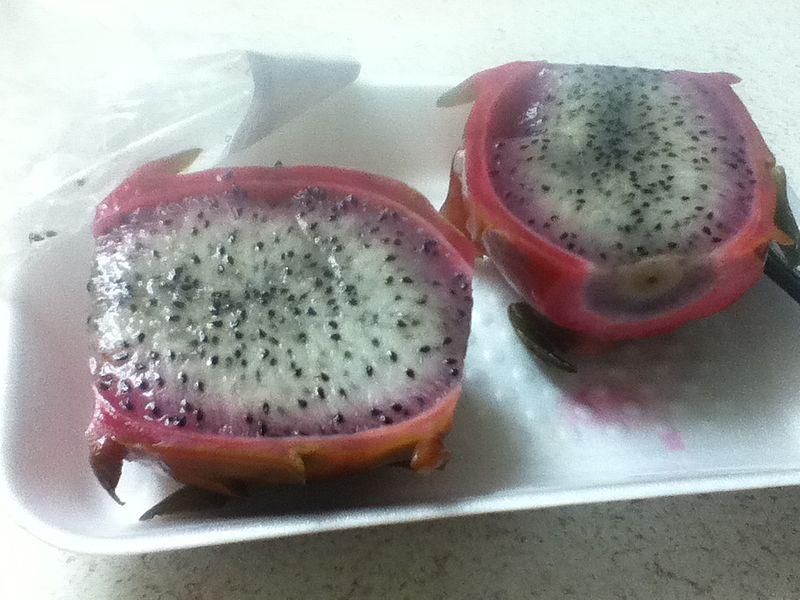 File:Sliced Dragon fruit on disposable dish.JPG
