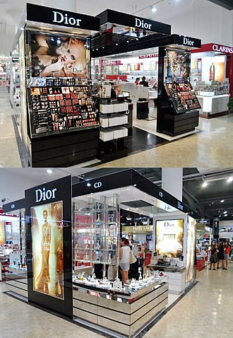 Christian Dior SE - Cosmetics counter at New Zealand department store Smith & Caughey's in Auckland, New Zealand