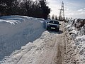 Snow drifts in lane off Hollingbourne Hill 2005 - geograph.org.uk - 937424.jpg