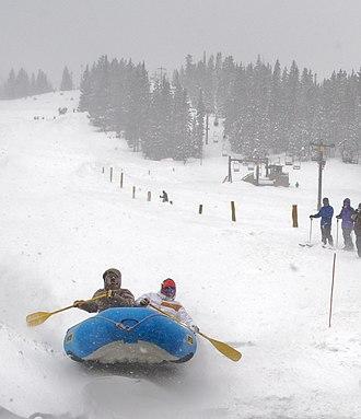 Monarch Ski Area - Snow rafting on Monarch Mountain