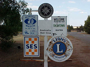 Snowtown, South Australia - South-western entrance to Snowtown