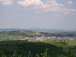 Skyline of Soave